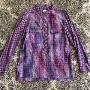 Gap boyfriend shirt Sz M red blue purple